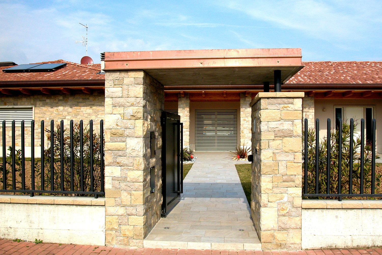 Muro massello villa pietra credaro