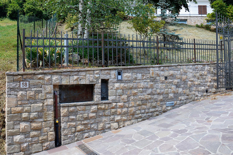 rivestimento muro villa pietra cretaro