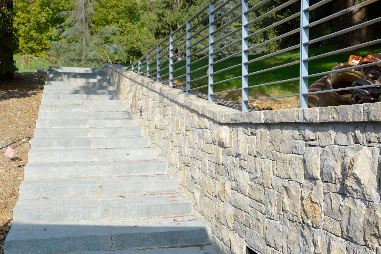 villa Muro contenimento pietra credaro