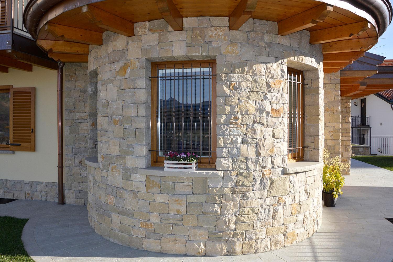 villa abitazione massello semisecco pietra credaro
